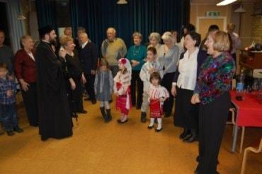 Vizită arhierească la pensionarii români din Stockholm