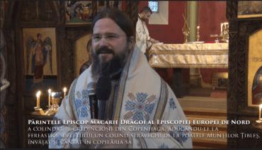 Părintele Episcop Macarie Drăgoi al Episcopiei Europei de Nord a colindat pe credincioșii din Copenhaga, aducându-le la fereastra sufletului un colind străvechi de la poalele Munților Țibleș, învățat și cântat în copilăria sa