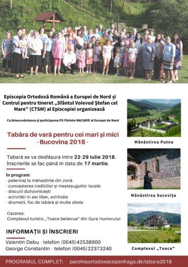 Tabăra de vară pentru cei mari și mici – Bucovina 2018
