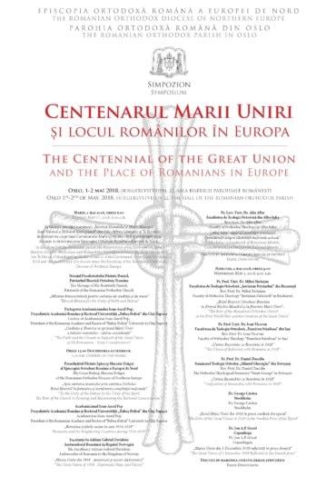 Simpozion la Oslo dedicat Centenarului Unirii. Participă Președintele Academiei Române precum și istorici și cercetători științifici din România și Țările Scandinave