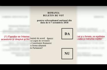 Cum va arăta buletinul de vot la referendum și ce înseamnă întrebarea cuprinsă în el – VIDEO