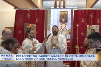 His Grace Father Macarie in pastoral visit at the Romanians in south-west Norway
