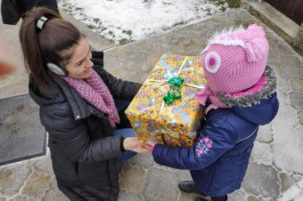 The gift in the shoe box reached the children of the Republic of Moldova